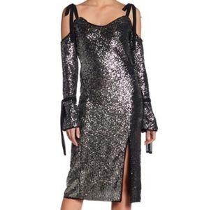 🆕🎄Rachel Royal Cold Shoulder Sequin Dress